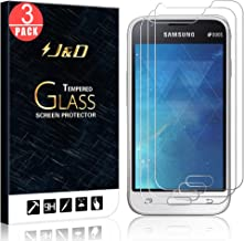 J&D Compatible for 3-Pack Galaxy J1 Mini Glass Screen Protector, [Tempered Glass] [Not Full Coverage] HD Clear Ballistic Glass Screen Protector for Samsung Galaxy J1 Mini Screen Protector