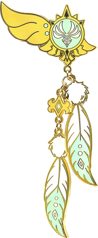 PPONE Genshin Impact Cosplay Badge Venti Brooch Element Gods Eye Wind Pin Accessories