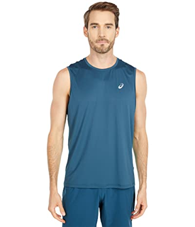 ASICS Race Singlet (Magnetic Blue/Techno Cyan) Men