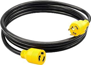 Sponsored Ad - RVMATE 3 Prong 30 Amp Generator Extension Cord 10 Feet, NEMA L5-30P/L5-30R 125V SJTW Jacket