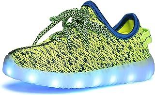 Genda 2Archer(JP) 光るシューズ キッズシューズ LEDスニーカー 男の子 女の子 光る靴 発光靴 夜光靴 7色 USB充電 通気 軽量 滑り止め LEDシューズ 子供靴 運動靴 男女兼用
