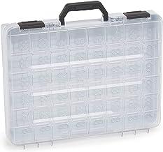 Sorteerdoos transparant met klapgreep | Bosch Sortimo T-BOXX grijs leeg | sorteerbox schroeven klein | ideale opbergdoos