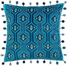 LF- Household Cushion Cotton Comfortable Material Light Luxury Retro Simple Plush Sofa Pillow Removable Sofa Cushions Grey...