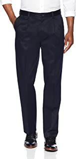 Amazon Brand - Buttoned Down Men's Relaxed Fit Pleated Non-Iron Dress Chino Pant