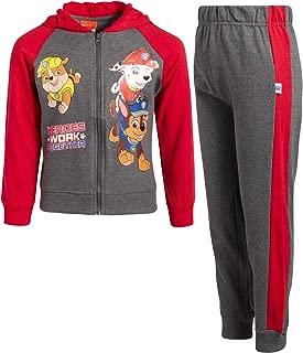 Nickelodeon Boys Paw Patrol 2-Piece Jogger Set - Fleece Zip-up Hoodie and Jogger Pant