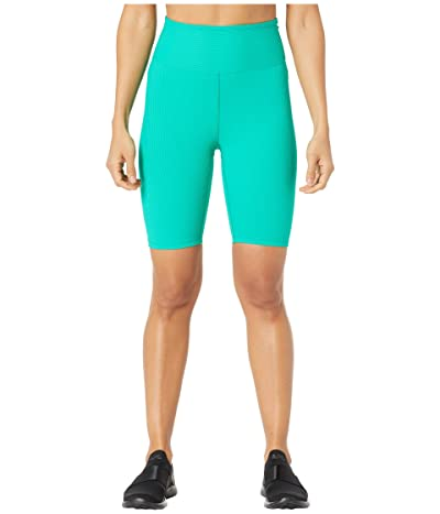 YEAR OF OURS Ribbed Biker Shorts (Green) Women