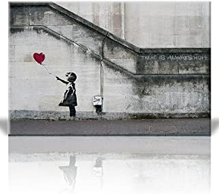 Wall26 - There is Always Hope Balloon Girl by Banksy Graffiti Canvas Prints Wall Art | Canvas Wrap 12