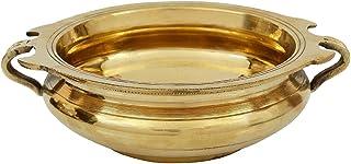 PARIJAT HANDICRAFT Decorative Brass Urli/Uruli for Home & Office Decoration-Diameter … (Gold, 10.2 Inchs)