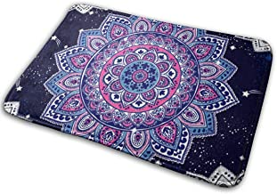 Ethnic Mandala Towel, Yoga Mat Print Doormat Non Slip Indoor/Outdoor Door Mat Floor Mat Home Decor, Entrance Rug Rubber Ba...