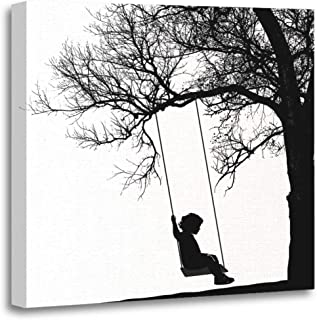 Best girl sitting on a swing painting Reviews
