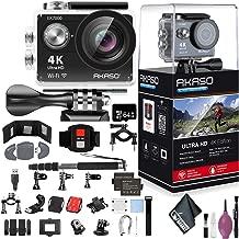 "$83 » AKASO EK7000 4K WiFi Sports Action Camera Ultra HD Waterproof DV Camcorder 12MP 170 Degree Wide Angle - 64GB - Memory Card Wallet & Reader - Action Camera Bike Handlebar/SEATPOST KIT - Monopod 70"""