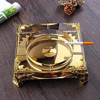 ZRL77y-Portable Ashtrays Ashtray Right Angle Gold Square Creative Fashion Ashtray Crystal Glass Personality Trend Ashtray ...