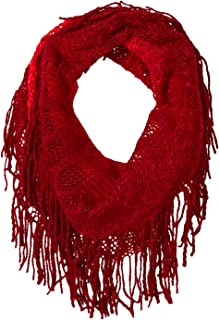 Britt's Knits Women's Acrylic Ombre Infinity Scarf with Fringe