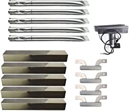 Cookingstar Replacement Part Kit for Gas Grill Brinkmann 810-1750-s 810-1751-S 810-3551-0, Stainless Steel Burners& Heat Plates& Crossover Tubes and Electrode