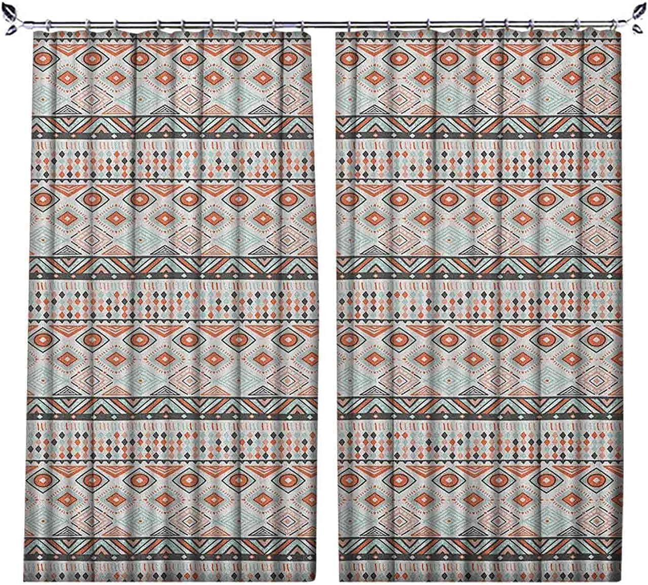Kansas City Mall Pleated Heat Insulation Curtains Arrangement Rare Geometric