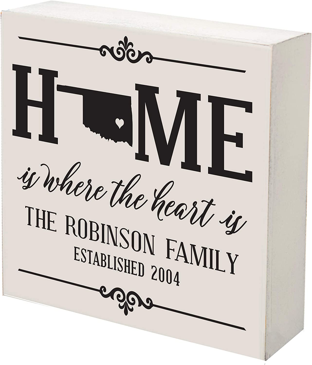 LifeSong Fixed price for sale Milestones Personalized Oklahoma Box Home Shadow lowest price State