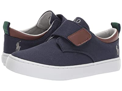 Polo Ralph Lauren Kids Charter EZ (Little Kid) (Navy Canvas/Grey Pony) Boy