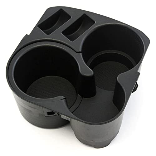 Red Hound Auto Cup Holder w Insert Center Console Black Plastic 2007-2012 Compatible with