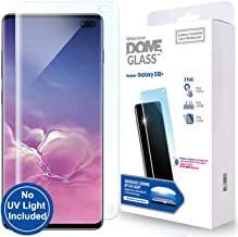 Galaxy S10 Plus Screen Protector, [Dome Glass] No UV Lamp Included [Solution for Ultrasonic Fingerprint] Tempered Glass Backup Kit by Whitestone for Samsung Galaxy S10+ (2019) - Replacement Only