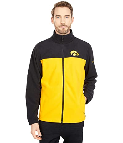 Columbia College Iowa Hawkeyes Flankertm III Fleece Jacket (Black/MLB Gold) Men