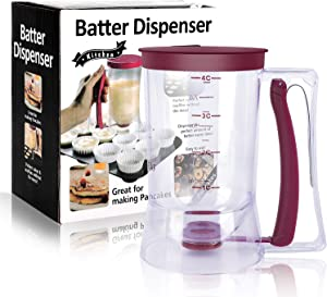 BBSTARZ Batter separator Cupcakes Pancakes Cookie Cake Waffles Batter Dispenser cookie separator batter Cream Speratator Cup Measuring Baking Tools (purple)