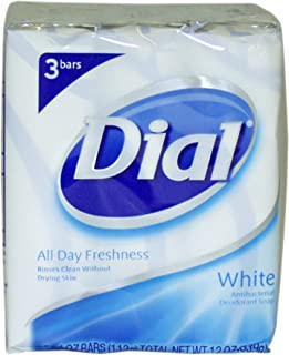 Dial White Antibacterial Deodorant Soap 113 g 3-Count Soap by Dial