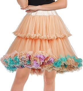 Womens Tutu Skirt Knee Length Peticoat Fluffy Underskirt...