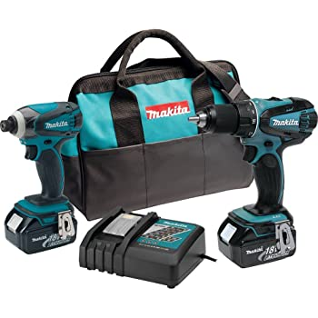 Makita XT260 18-volt LXT Lithium-Ion Cordless Combo Kit, 2-Piece (Discontinued by Manufacturer)