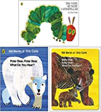 Eric Carle Collection 3 Books Set (The Very Hungry Caterpillar [Paperback], Baby Bear Baby Bear What Do You See?(Board Boo...