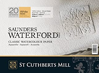 Saunders Waterford Block 300gsm 230 x 310mm (9  x 12 ) 20 Sheets Rough B004V8LLDW  Karamell, sanft