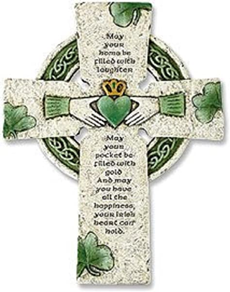 Vminno Irish Wall Cross With Traditional Irish Blessing Standard Version