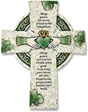 Vminno Irish Wall Cross with Traditional Irish Blessing (Standard Version)