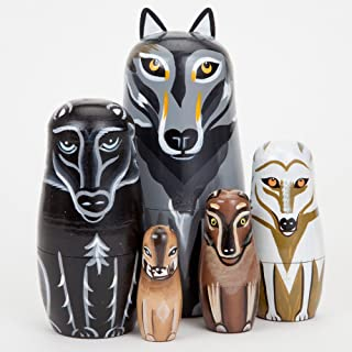Best wolf nesting dolls Reviews