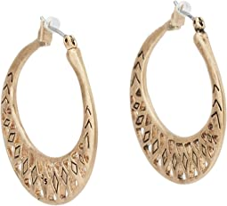 The Sak Metal Works Openwork Metal Hoop Earring