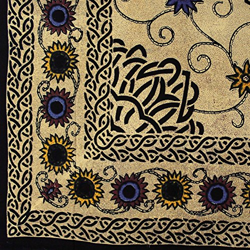 Cotton Celtic Sunflower Print Tapestry