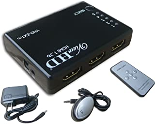 ViewHD 5 Port Smart / Auto HDMI Powered 5x1 Switch / Switcher with IR Remote and Power Adapter