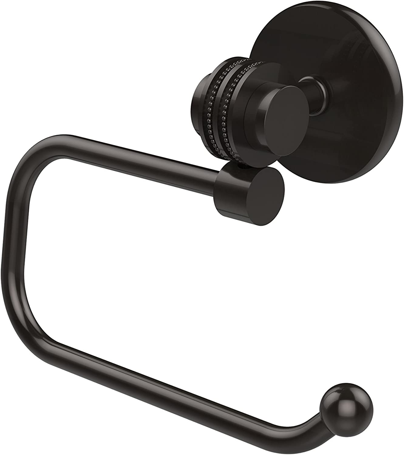 Allied Brass 7224ED-ORB Satellite Orbit Two Collection Euro Style Toilet Tissue Holder with Dotted Accents, Oil Rubbed Bronze