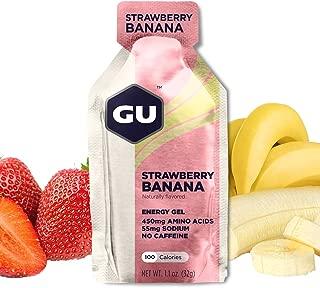 GU Energy Original Sports Nutrition Energy Gel, Strawberry Banana, 8 Count Box