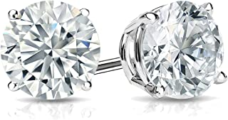 14k Gold Round Lab Grown Diamond Stud Earrings (1/4 to 1 1/4cttw, E-F, SI1-SI2)