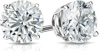 Lab Grown Diamond Stud Earrings in 14k Gold Round (1/4 to 1 1/4cttw, E-F, VS1-VS2) 4-Prong Basket, Screw-backs by Diamond Wish