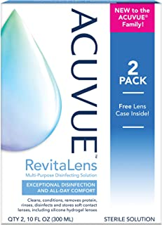 ACUVUE(TM) RevitaLens Multi-Purpose Disinfecting Solution 10 oz (Pack of 2)