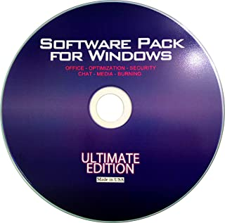 Ultimate Software Pack for Window 7, Vista, XP, 2000, Server And Includes Office Suite, Audio/Video Codecs, Encryption tools, A Complete Security Suite, Universal Chat Client, Advanced Photo Editing, CD/DVD Burning & More