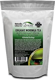 Moringa Tea Organic 90 Bags 100% Pure, All-natural, Antioxidant-rich Energy Booster