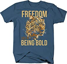Freedom Lies in Being Bold with Leopard Animal Life Advice Tshirt