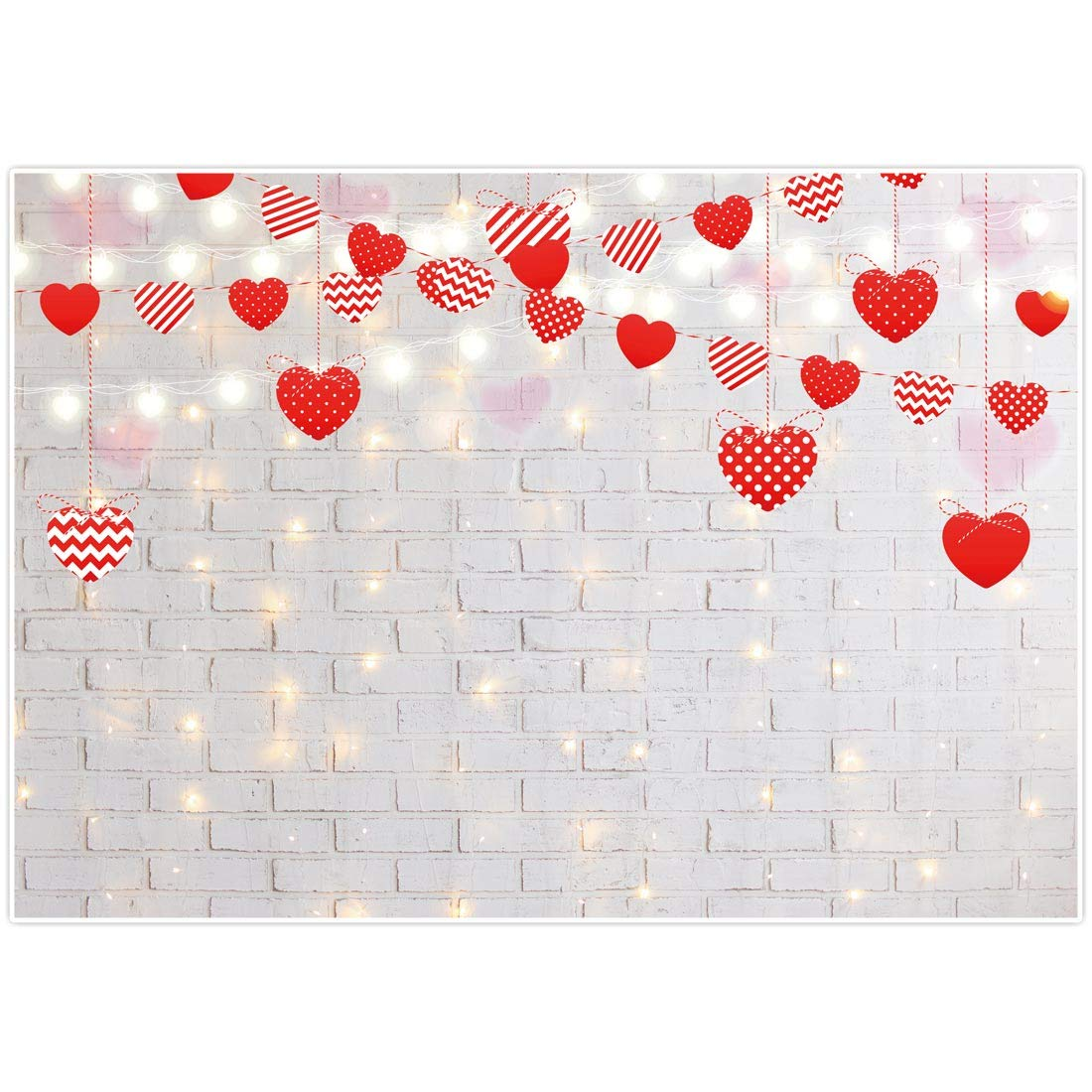 VINFUTUR 6pcs /× 6.6ft Paper Love Heart String Garlands Heart Banner Bunting Backdrop Hanging Decorations for Valentines Day Engagement Wedding Birthday Party Holiday Home Decorations Pink
