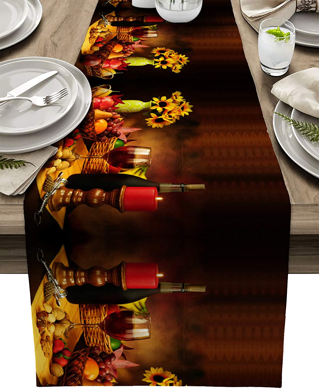 Limited time sale Burlap Table Runners Cover for Rustic Dinners H Fort Worth Mall Fall Retro