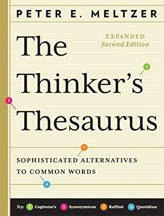 Amazon com: The Thinker's Thesaurus: Sophisticated