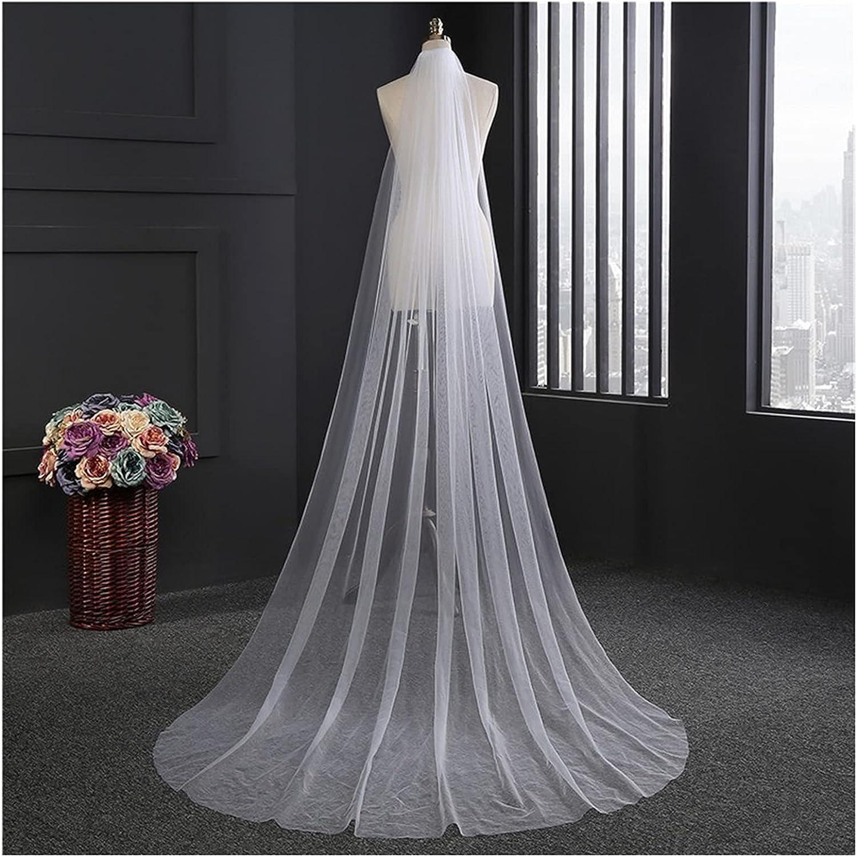 YYOBK Ts White Ivory free Double Color Tulsa Mall Long Wedding Optional Veil 3M