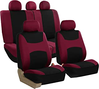 FH Group FB030BURGUNDY115 full seat cover (Side Airbag Compatible with Split Bench Burgundy)