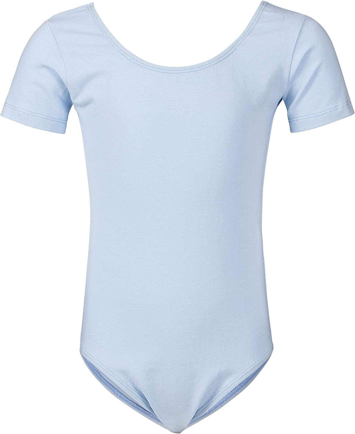 Short-Sleeved Made of Soft and Durable Cotton Blend tanzmuster Girls Ballet Leotard Sally